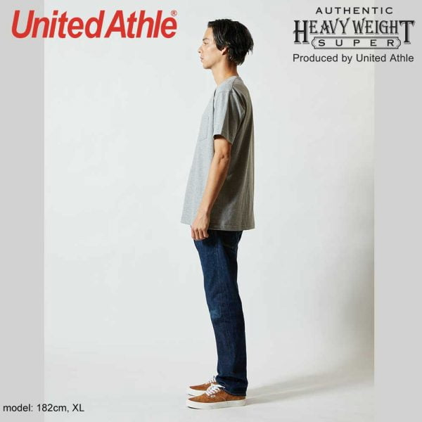 United Athle 4253-01 7.1oz Heavy Weight Adult Cotton Pocket T-shirt