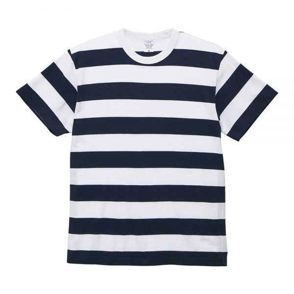 United Athle 5625-01 5.6oz Adult Striped Cotton T-shirt