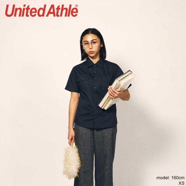 United Athle 1772-01 T/C Short Sleeve Work Shirt with Pocket
