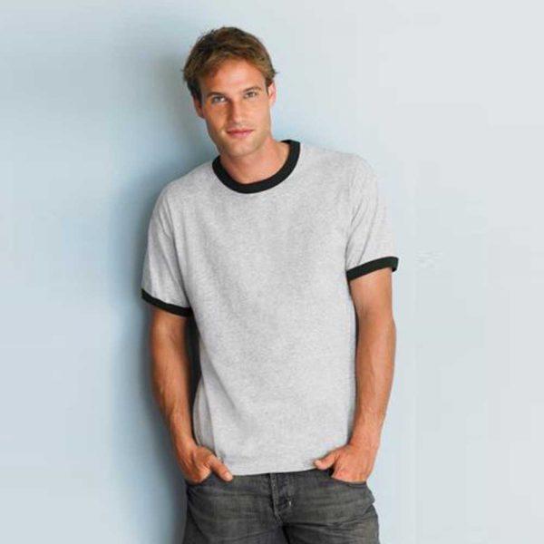 Gildan 2600 Ultra Cotton Ringer T-Shirt - Sport Grey/Black (US Size)
