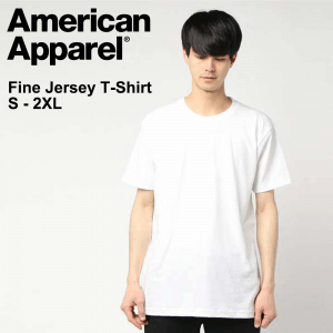 American Apparel 2001W 4.3oz Fine Jersey Crewneck T-Shirt (US Size)