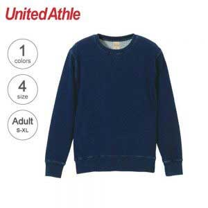 United Athle 3906-01 Adult Indigo Crewneck Sweatshirt
