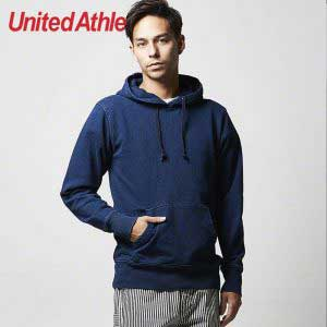 United Athle 3907-01 丹寧藍全棉連帽衛衣