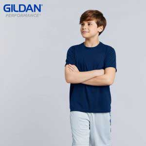 Gildan 42000B 5.0oz Performance 童裝運動 T 恤