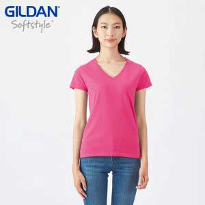 Gildan 63V00L 4.5oz SoftStyle Ladies V-Neck T-Shirt