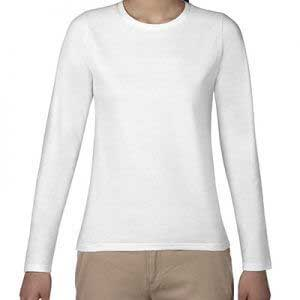 Gildan 64400L 4.5oz SoftStyle Ladies Ring Spun Long Sleeve T-Shirt