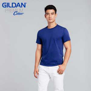 Gildan 76000 5.3oz Premium Cotton 成人環紡圓筒 T 恤