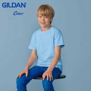 Gildan 76000B 5.3oz Premium Cotton 童裝環紡 T 恤