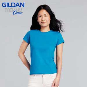 Gildan 76000L 5.3oz Premium Cotton Ladies Ring Spun T-Shirt