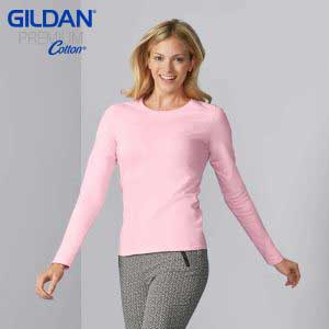 Gildan 76400L 5.3oz Ladies Ring Spun Long Sleeve T-Shirt