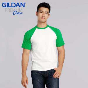 Gildan 76500 5.3oz Adult Ring Spun Raglan T-Shirt