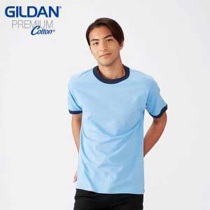 Gildan 76600 成人撞色領 T 恤