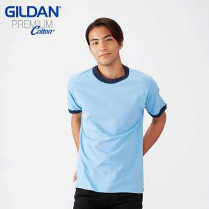 Gildan 76600 5.3oz Adult Ring Spun Ringer T-Shirt