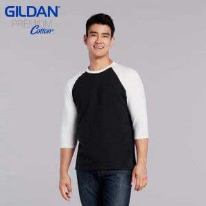 Gildan 76700 5.3oz 成人七分袖牛角袖 T 恤