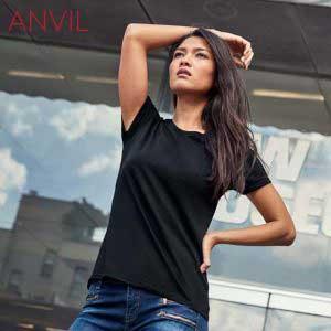 ANVIL 880L 4.5oz Ladies Lightweight Combed Ring Spun T-Shirt