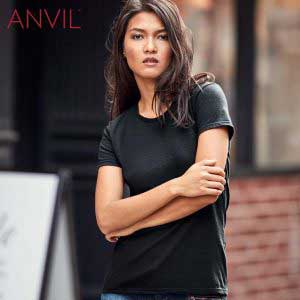 ANVIL 880L 4.5oz Ladies Lightweight Combed Ring Spun T-Shirt