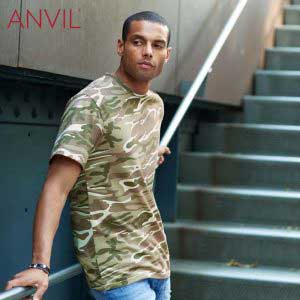 ANVIL 939 4.9oz Adult Midweight Camouflage T-Shirt (US Size)