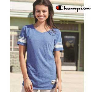 Champion AO350 復刻版混紡女裝 V 領 T 恤