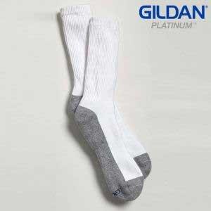 Gildan Platinum GP751 Men's Crew Socks White (6 Pair)