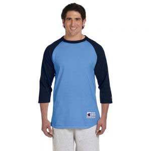 Champion T137 七分袖牛角袖 T 恤 (美國尺碼)