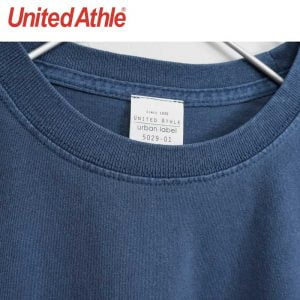 United Athle 5029-01 5.6oz 顏料染圓領短袖有袋 T 恤