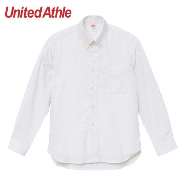 United Athle 1269-01 牛津扣領長袖襯衫