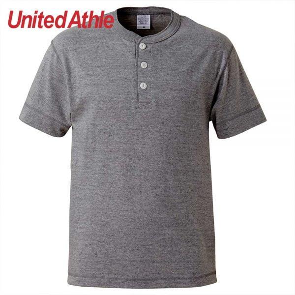 United Athle 5.6oz 成人短袖亨利領 T恤