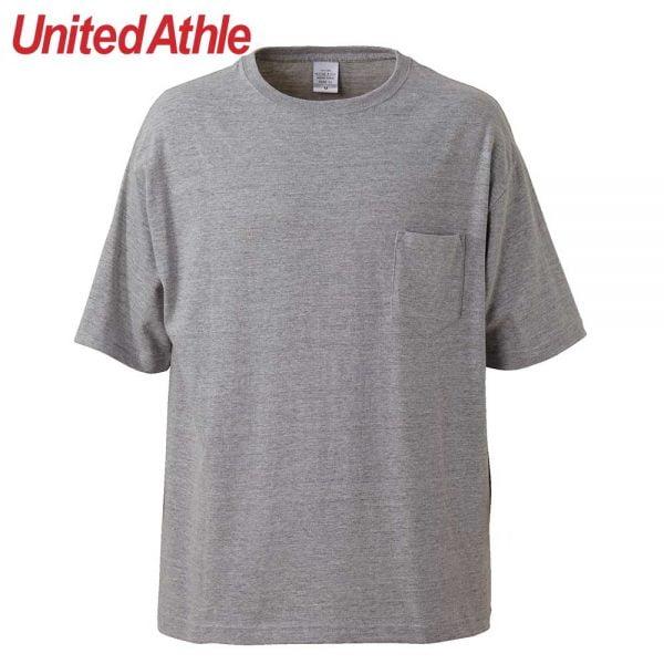 United Athle 5.6oz 5008-01 寬版口袋T恤