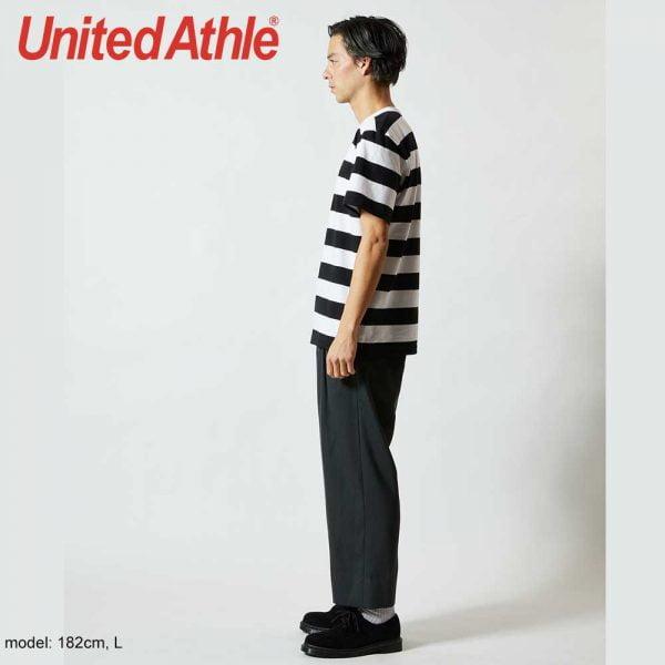 United Athle 5625-01 5.6oz 橫條紋 T 恤